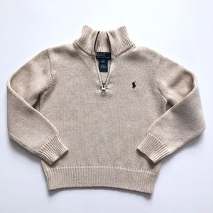 Boys Janie & Jack Polo Ralph Lauren Zip Sweater 4T